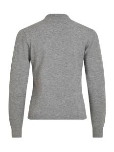 objthess l/s knit pullover noos 23030144 object trui medium grey melange