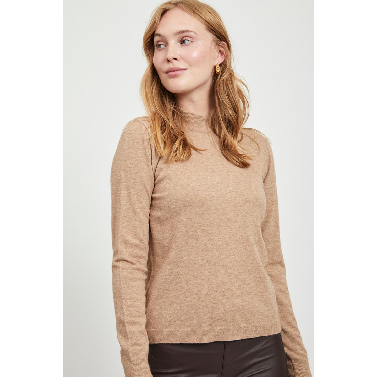 objthess l/s knit pullover noos 23030144 object trui chipmunk/melange