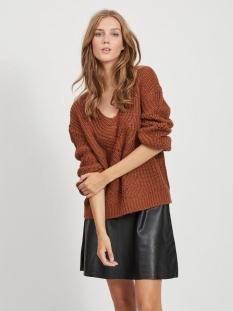 visee knit v-neck l/s top 14058254 vila trui tortoise shell