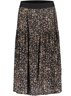 Geisha Rok SKIRT AOP LEOPARD WITH LUREX 06562 20 Black/Army Combi