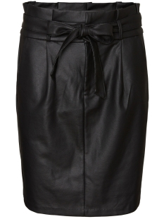Vero Moda Rok VMEVA HR PAPERBAG SHORT COATED SKT 10233919 Black/COATED
