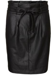 Vero Moda Rok VMEVA HR PAPERBAG SHORT COATED SKT 10233919 Black/COATED