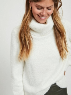 VIFEAMI ROLLNECK L S KNIT TOP SU 14056500 Whisper White