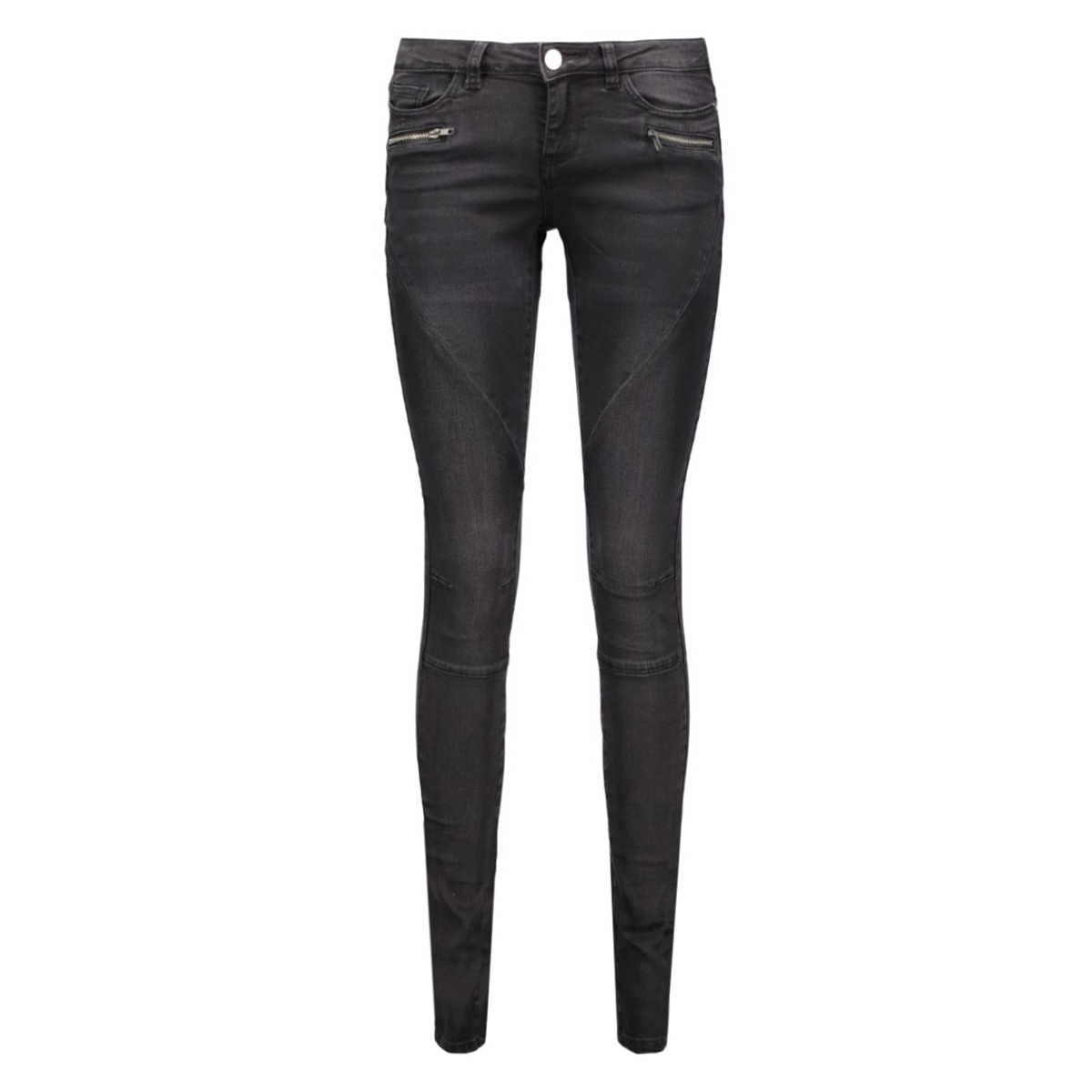 nmeve lw ss 2 zip jeans black noos 10160730 noisy may jeans black