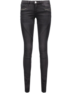 Noisy may Jeans NMEVE LW SS 2 ZIP JEANS BLACK NOOS 10160730 Black