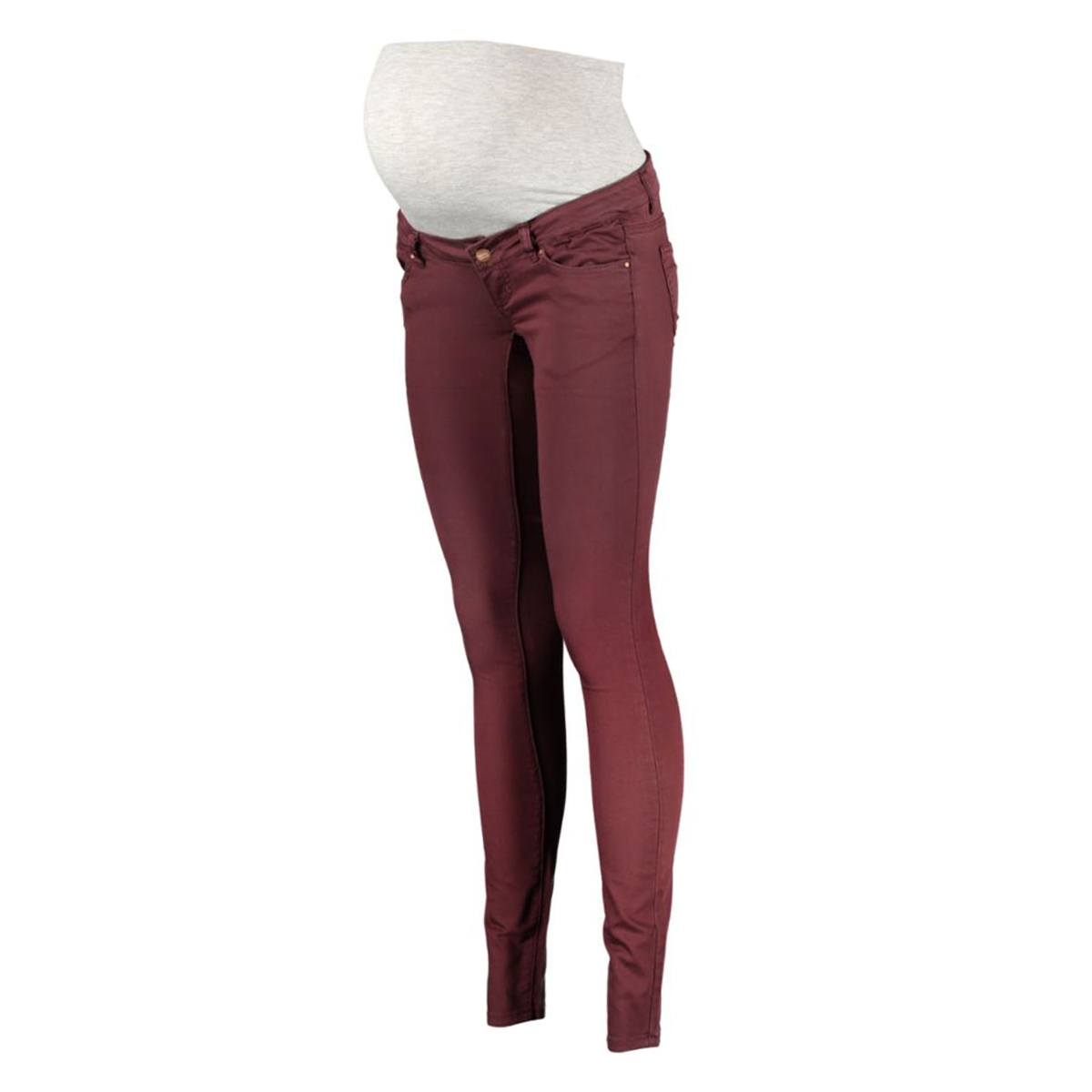 mlida skinny color jeans 20003563 mama-licious positie broek decadent chocolate