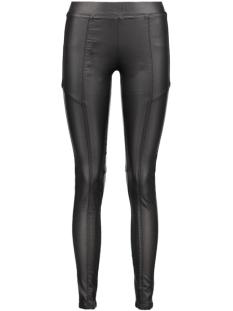 nmvicky nw coated cutline pants 10163438 noisy may legging black/coated