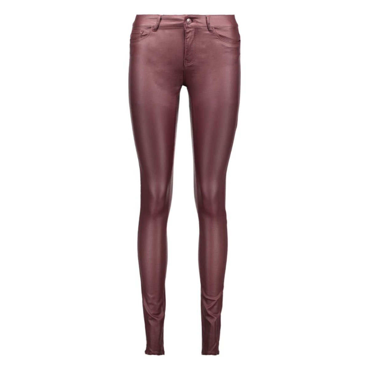 vmseven nw ss smooth coatclr pant noos 10160210 vero moda broek decadent chocolate