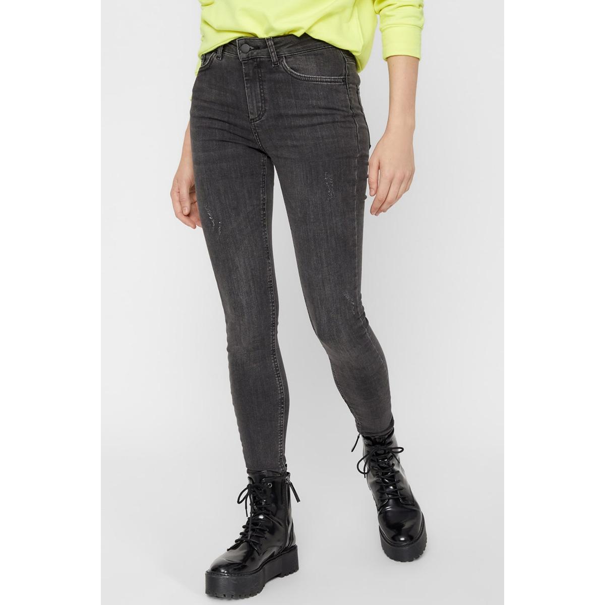 pcdelly b219 mw skn jns 17080499 pieces jeans dark grey denim