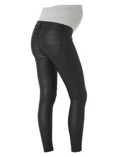 mlram coated slim jeans 20006509 mama-licious positie broek black