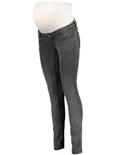 mlsnow slim jeans 20006507 mama-licious positie broek dark grey denim