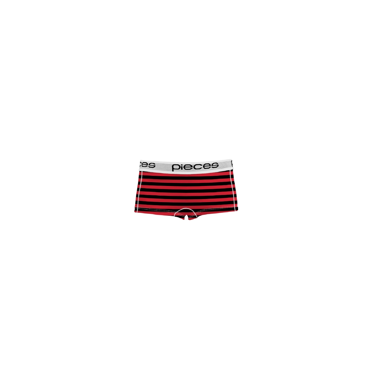 pclogo lady boxers 14-191 stripe 17080023 pieces ondergoed high risk red