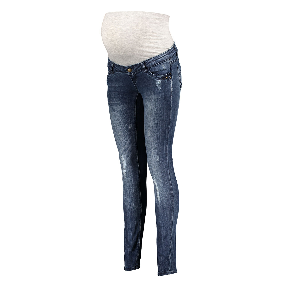 mltropez slim jeans - stars 20006508 mama-licious positie broek medium blue denim