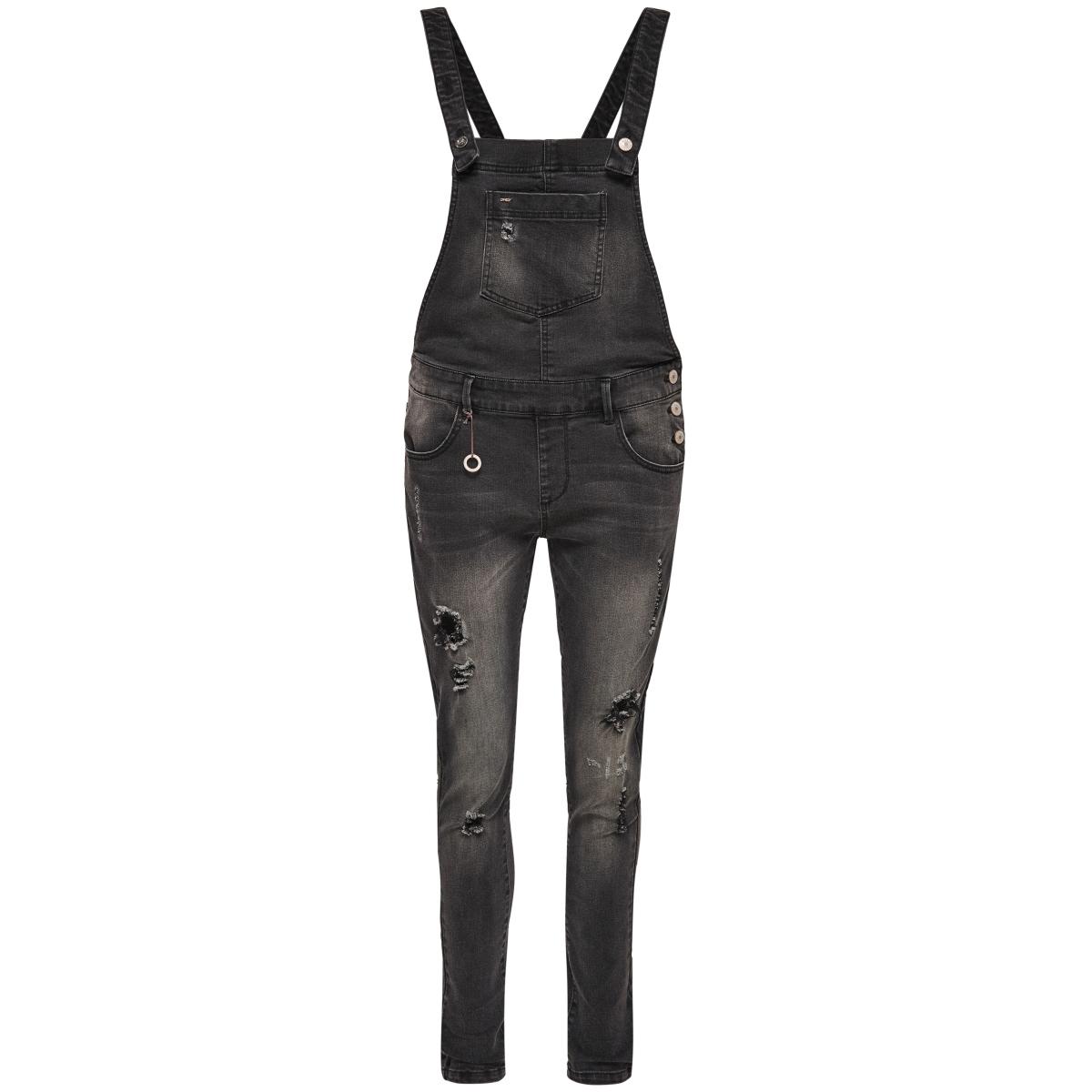 onlkim witty  dnm overall bj7967 15132057 only jumpsuit dark grey denim
