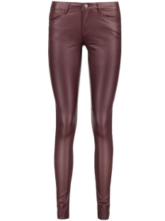 Noisy may Broek NMEVE LW SSLIM COATED PANT 10160752 Decadent Chocolate