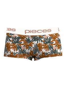Pieces Ondergoed PCLOGO LADY BOXERS FLORAL 17078670 Bright White/Comb 2