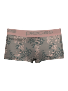 Pieces Ondergoed PCLOGO LADY BOXERS FLORAL 17078670 Basam Green/Comb 1
