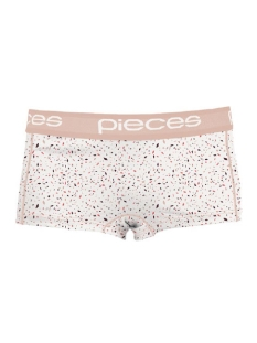 Pieces Ondergoed PCLOGO LADY BOXERS 14-183 PARTY 17079663 bright white/Comb B