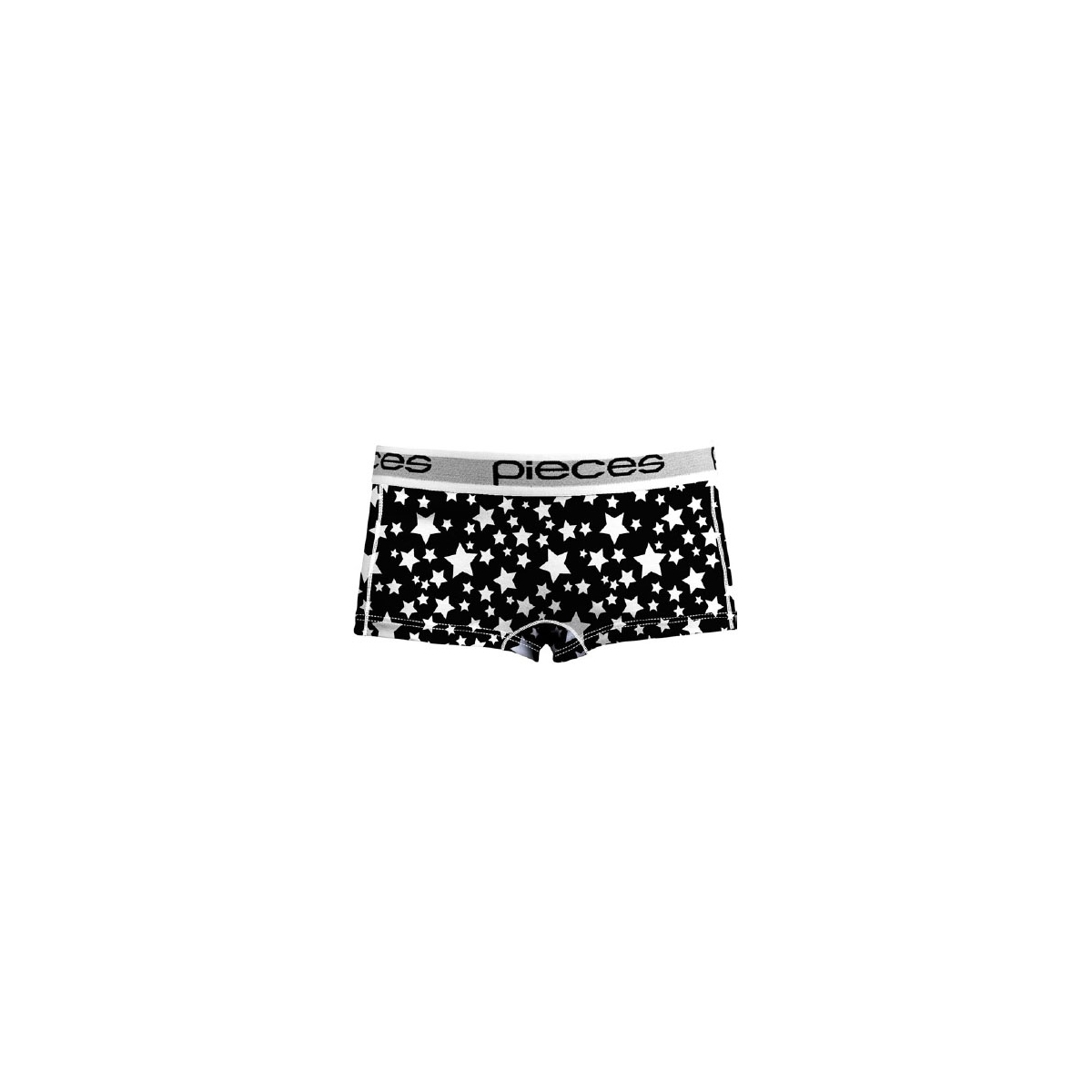 pclogo lady boxers 14-186 blc&wh 17079675 pieces ondergoed black/comb b