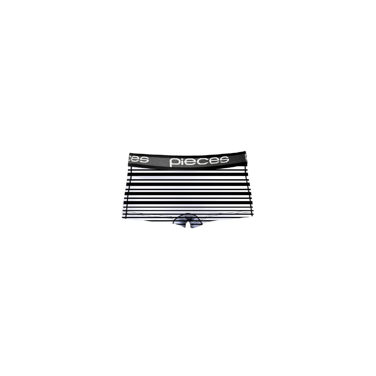pclogo lady boxers 14-186 blc&wh 17079675 pieces ondergoed black/comb c