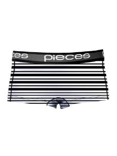 Pieces Ondergoed PCLOGO LADY BOXERS 14-186 BLC&WH 17079675 Black/Comb C