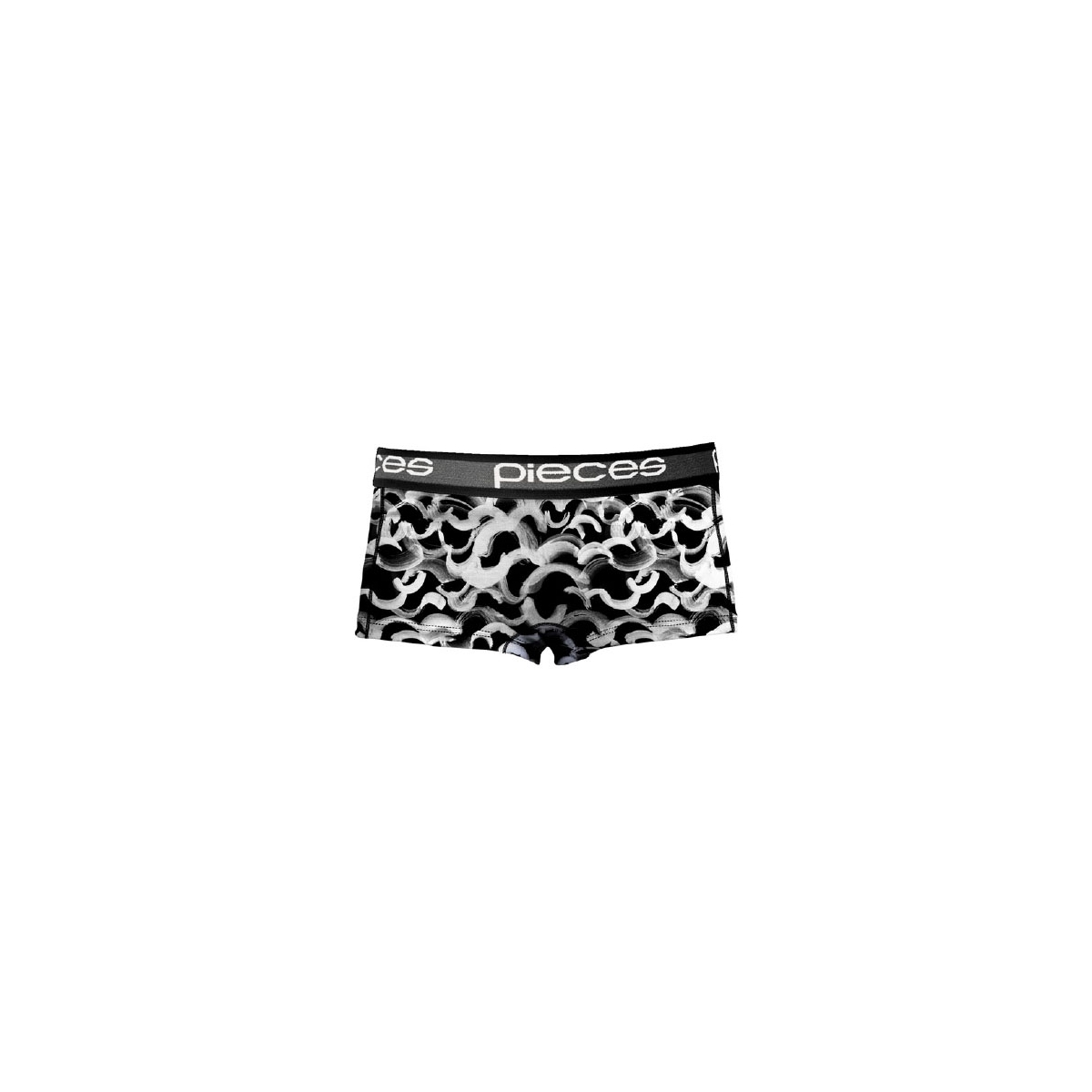 pclogo lady boxers 14-186 blc&wh 17079675 pieces ondergoed black/comb a