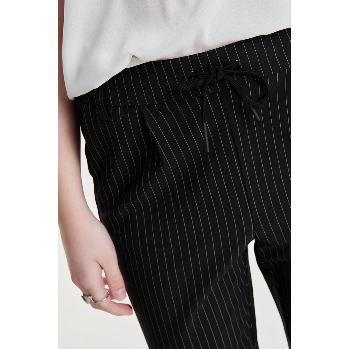 onlpoptrash classic pinstripe pant 15136329 only broek black