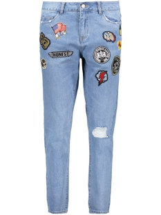 onlLIMA BOYFRIEND BADGE JEANS BJ 15136732 Light blue denim