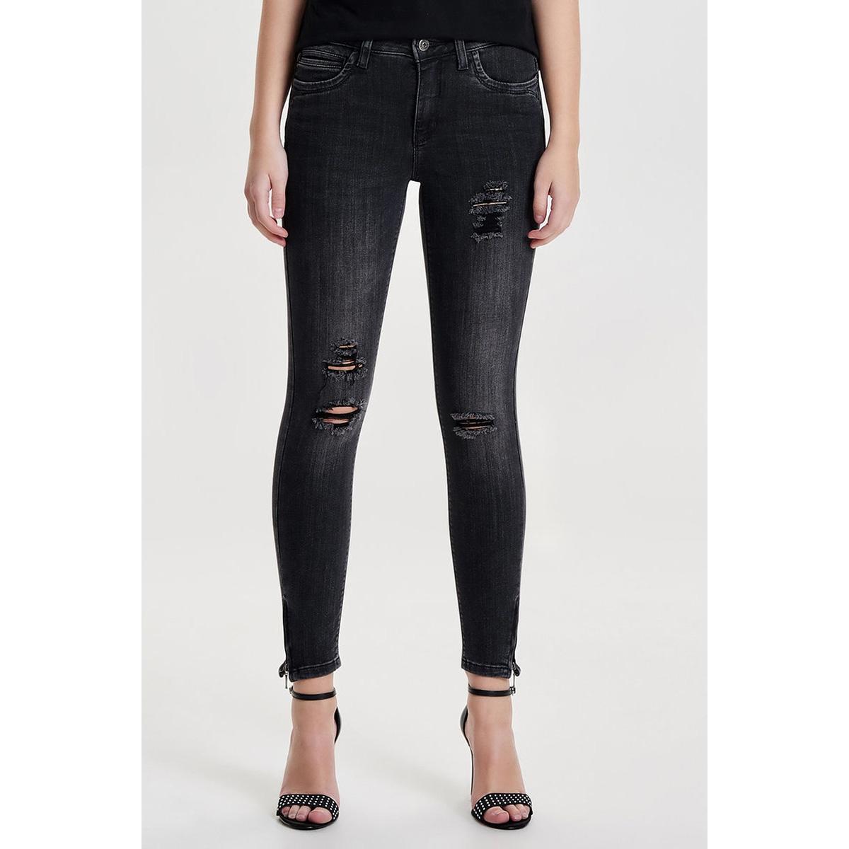 onlkendell ank zip grey dnm jns cre 15133753 only jeans grey denim