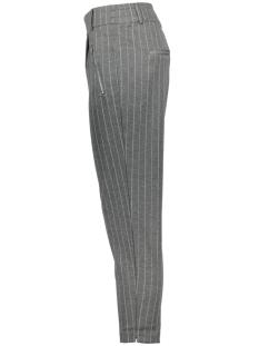 onlpoptrash easy ankle zip stripe pant 15132529 only broek grey melange