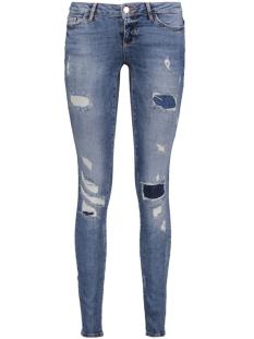 Noisy may Jeans NMEVE LW DESTROY PATCH JEANS BA615 10175647 Medium Blue Denim
