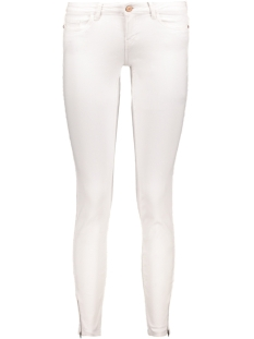 Noisy may Jeans NMEVE LW SS ANKLE ZIP JEANS  WHITE 10171053 Bright White