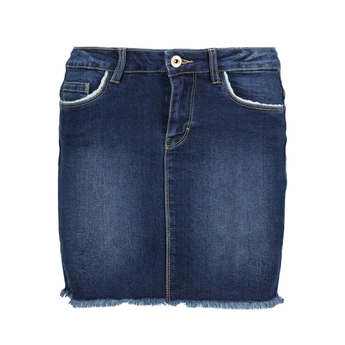 onlphoebe blue raw dnm skirt box pi 15134340 only rok dark blue denim