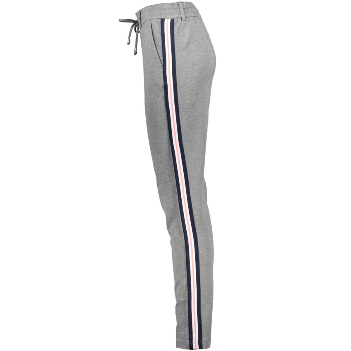 vizanza sweat pants 14043365 vila broek medium grey mel/track in d