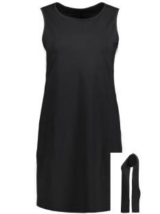 onlpoptrash easy black/white dress 15143686 only jurk black