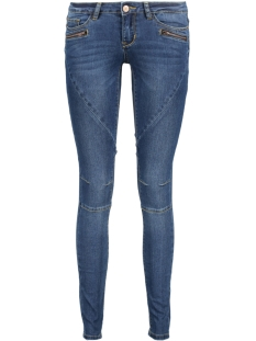 Noisy may Jeans NMEVE LW SS 2 ZIP JEANS DKBL NOOS 10160731 Dark Blue Denim