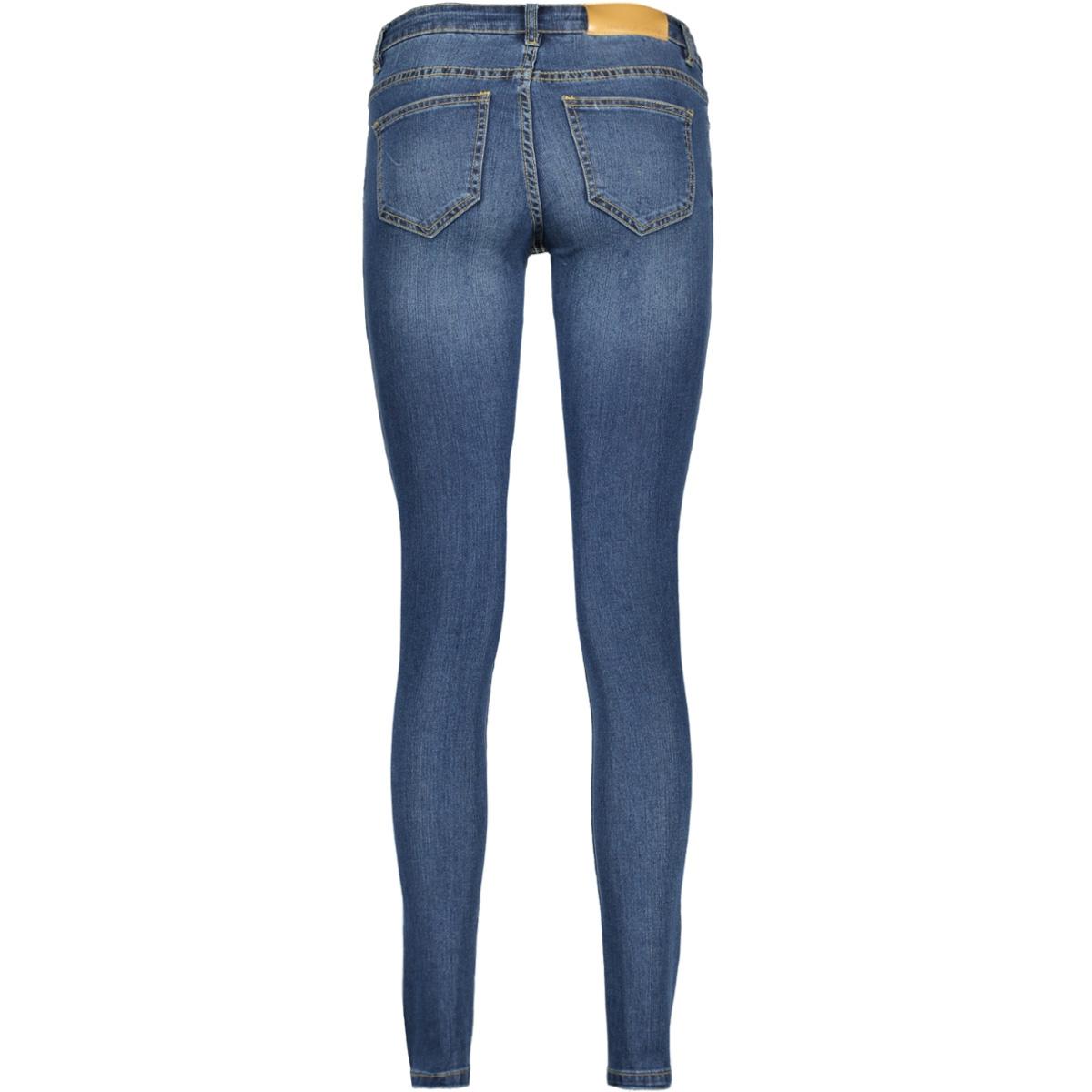 nmeve lw ss 2 zip jeans dkbl noos 10160731 noisy may jeans dark blue denim