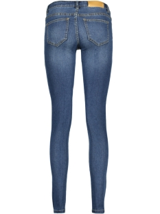 nmeve lw ss 2 zip jeans dkbl noos 10160731 noisy may jeans dark blue denim