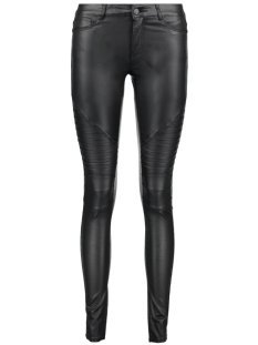 Noisy may Broek NMEX LUCY NW COATED BIKER JEANS NOO 27001116 Black