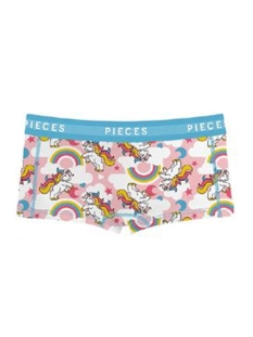 Pieces Ondergoed PCLOGO LADY BOXERS 14-221 UNICORN 17085143 Bright White/Comb A