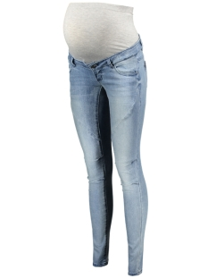 Mama-Licious Positie broek MLCARRIE SLIM JEANS 20007637 Light Blue Denim