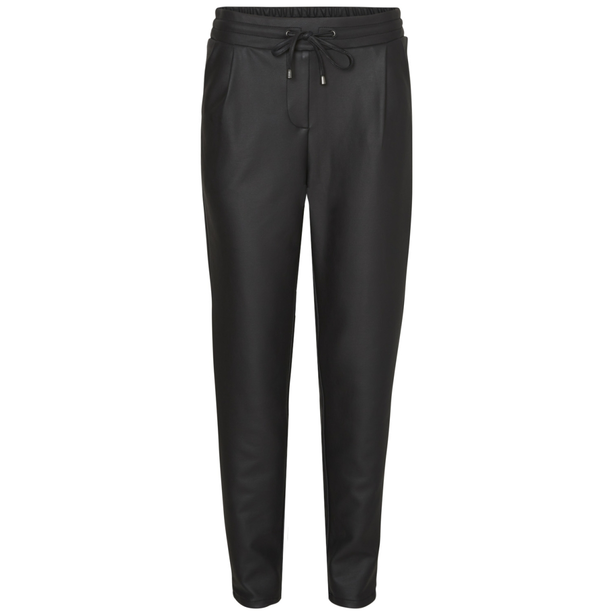 vmrory nw loose coated string pants 10183257 vero moda broek black