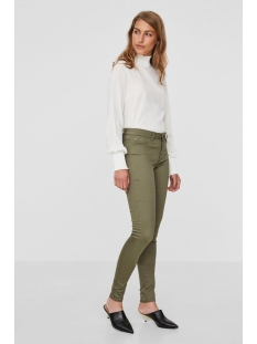 vmhot seven nw slim pants aw 10183250 vero moda broek ivy green