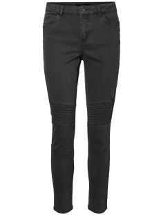 Vero Moda Jeans VMSEVEN NW SUPER SLIM BIKER ANKLE PANTS 10183218 Dark Grey Melange