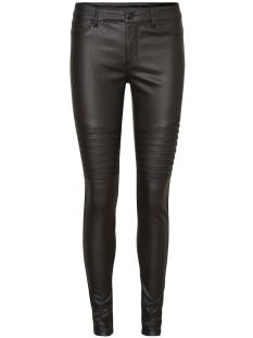 Vero Moda Jeans VMSEVEN NW SS COATED BIKER PANTS 10183642 Black