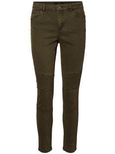 vmseven nw super slim biker ankle pants 10183218 vero moda jeans dark olive