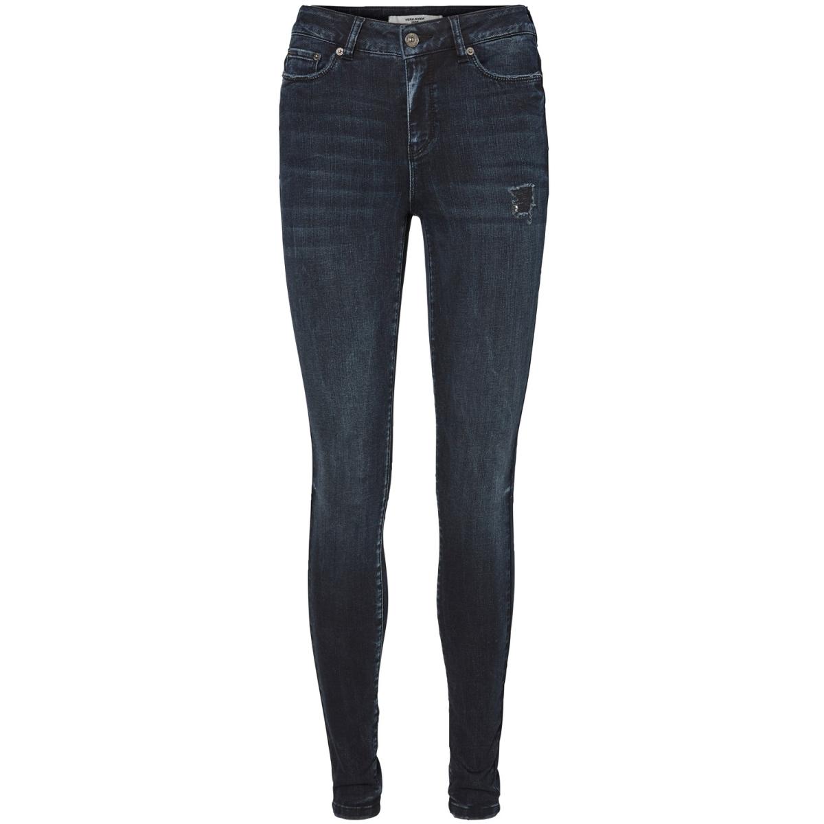 vmseven nw ss blackblue jeans 10187372 vero moda jeans dark blue denim