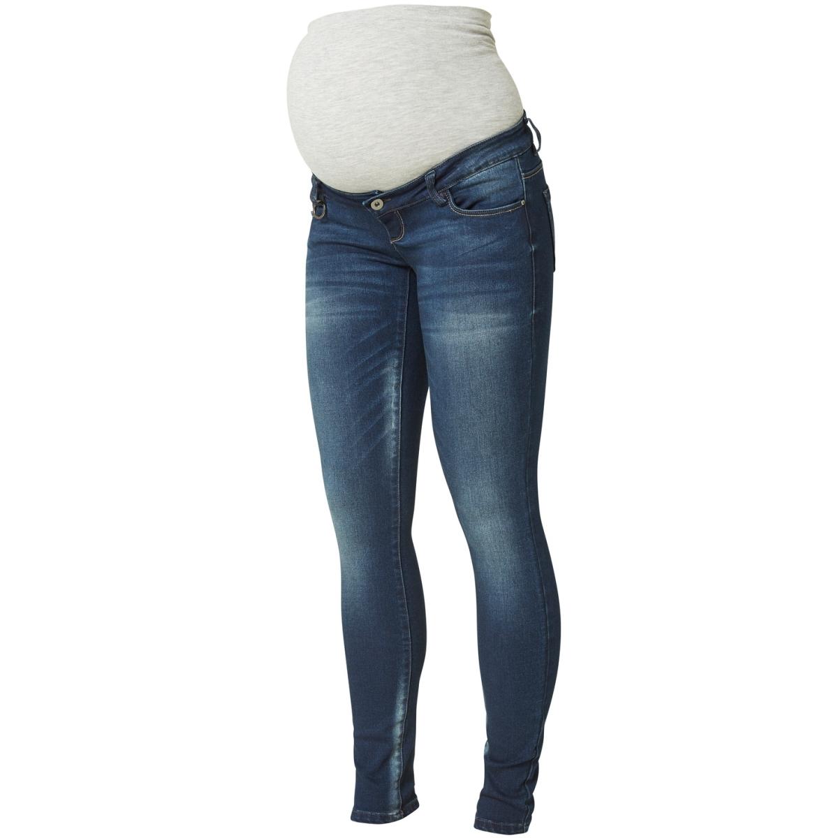 mljune slim jeans 20007643 mama-licious positie broek dark blue denim
