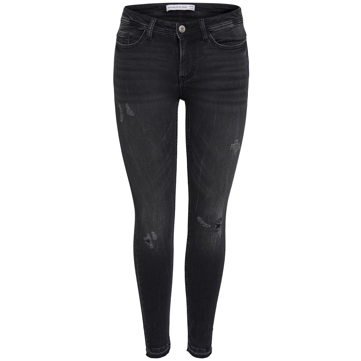 jdyskinny reg.jake ankl g jeans dnm 15140337 jacqueline de yong jeans dark grey denim