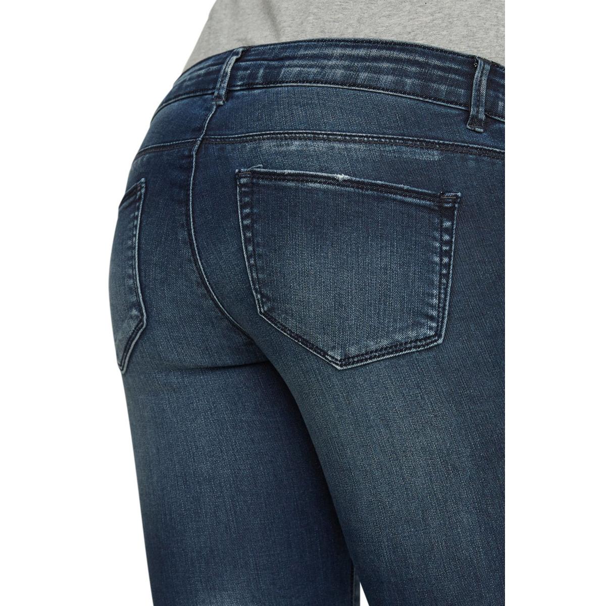 mlmyra slim blue jeans s-noos 20007784 mama-licious positie broek dark blue denim
